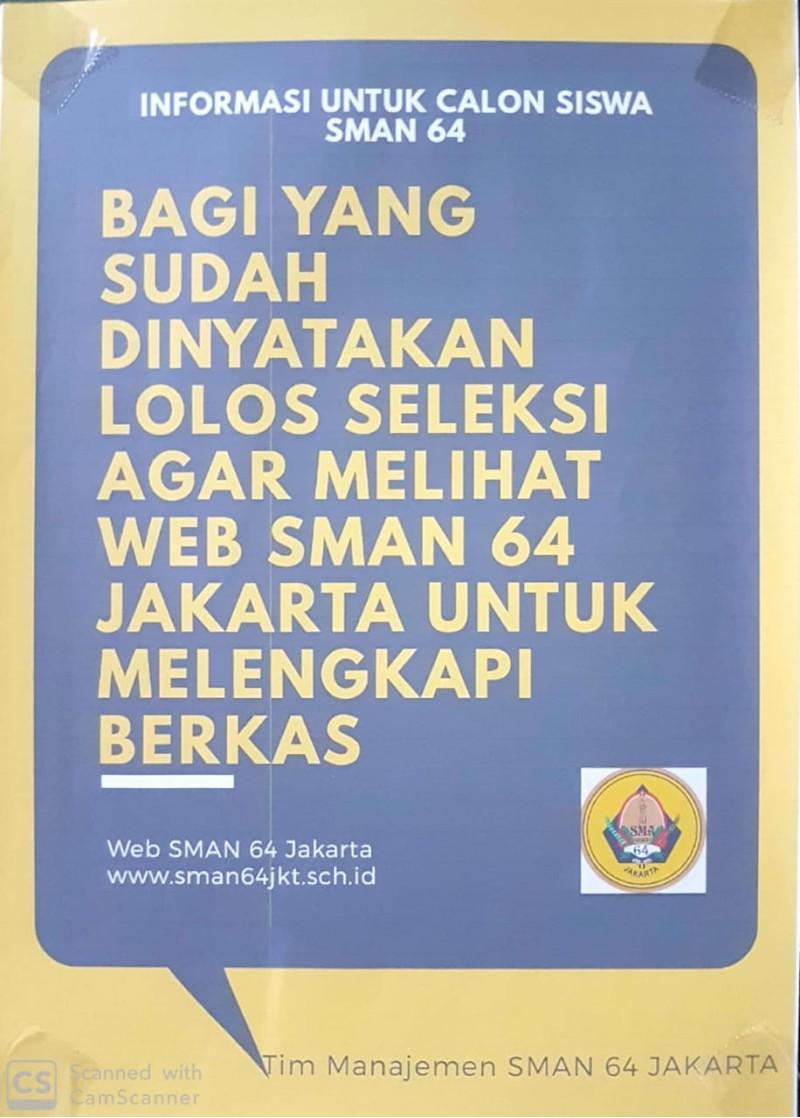 INFORMASI CPDB SMAN 64 JAKARTA